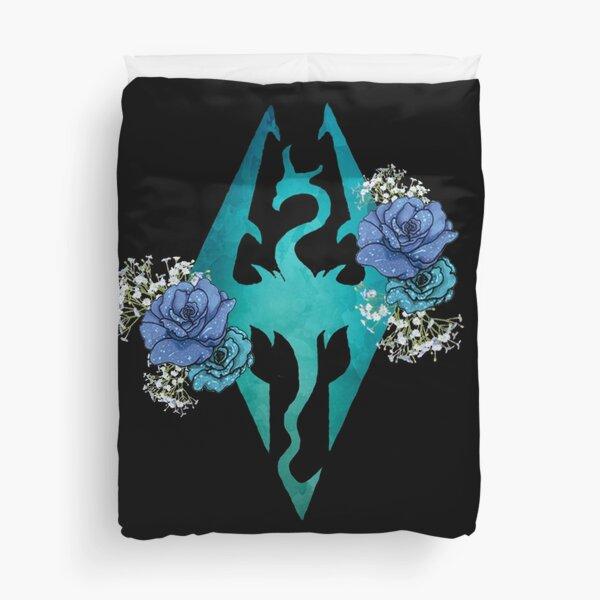 Rose Dragonborn Duvet Cover