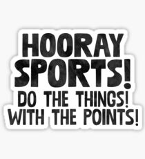 Hooray Sports + Fitness Gym Crossfit Sticker