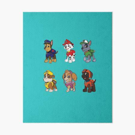 PAW Patrol Characters Art Board Print