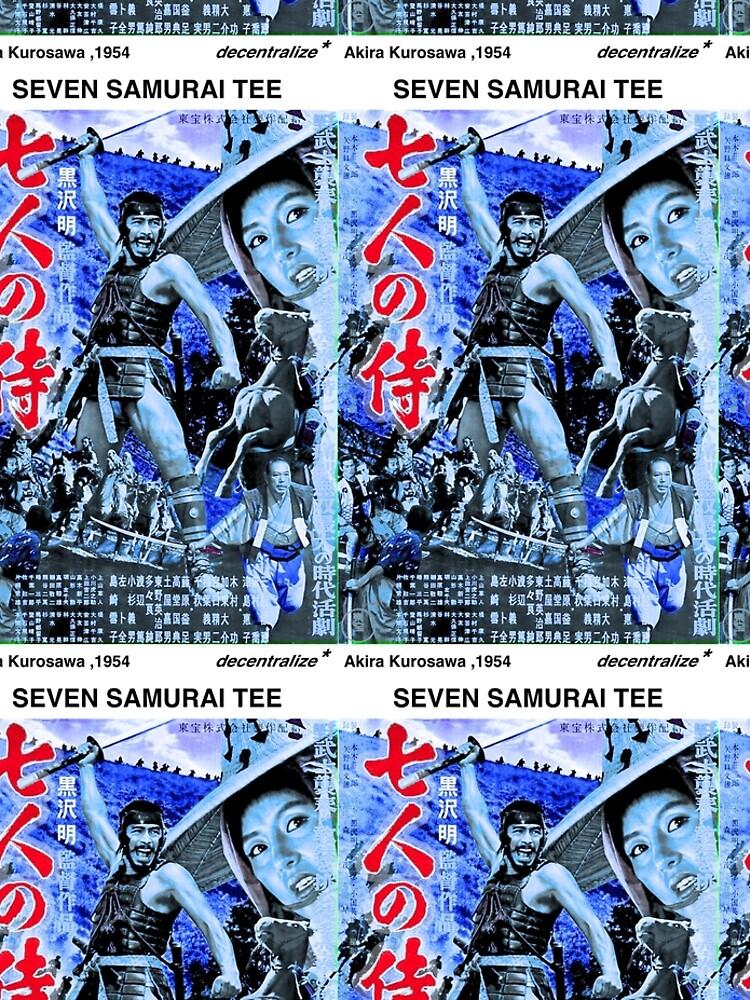 SEVEN SAMURAI FAN SHIRT - Akira Kurosawa by xd3ctrl1zed