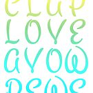 Clap Love Avow Pews by alannarwhitney