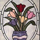 Stained Glass Tulips  by DesignsByDeb