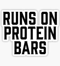 Runs On Protein Bars ~ Gym Fitness Sports Sticker