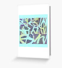 9. Street Abstract invertiert blau Grußkarte