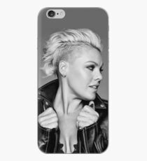 Black and White Pink Beautiful Trauma iPhone Case