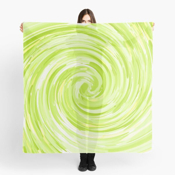 Lime Green Abstract Scarf