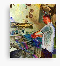 Passion DJ Canvas Print