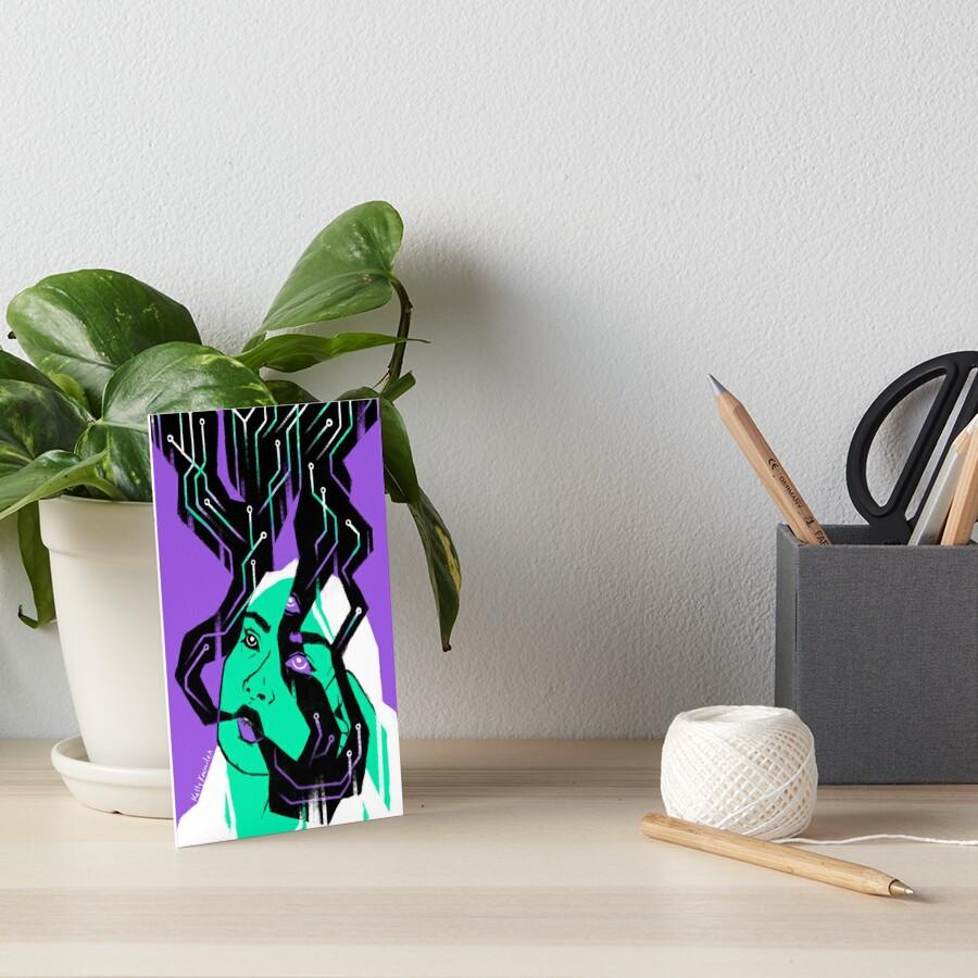 Glitch Witch Art Board Print