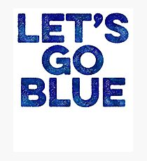 Lets Go Blue Team + Sports Fitness Runner Photographic Print