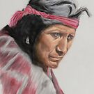 Indian Elder   (pastel) by Linda Sparks