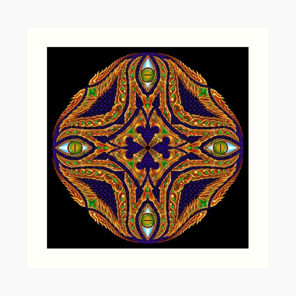 DMT Emblem by Salvia Droid Art Print