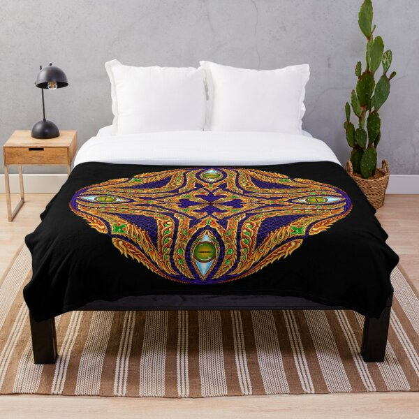 DMT Emblem by Salvia Droid Throw Blanket