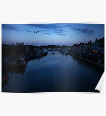 Weymouth Harbour at Twilight Poster