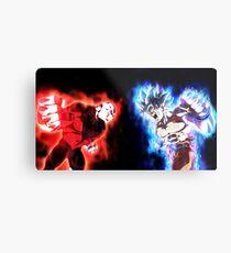 Goku mastered Ultra Instinct vs. Jiren full power Metal Print