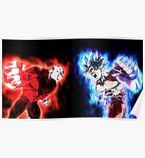 Goku mastered Ultra Instinct vs. Jiren full power Poster