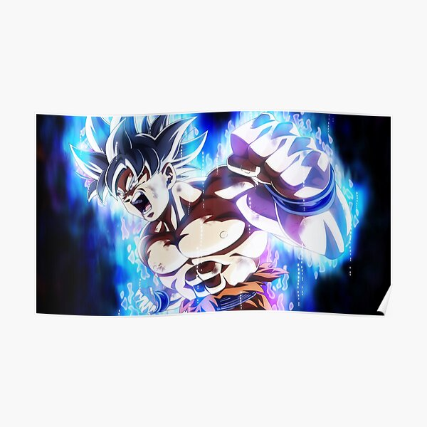Dragon Super Goku Ultra Instinct Mastered T-3353 Art Poster 24x36 27x40