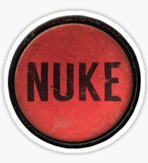 Red Nuke Button Sticker