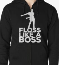 Floss Like A Boss Dance T-Shirt Zipped Hoodie