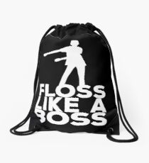 Floss Like A Boss Dance T-Shirt Drawstring Bag