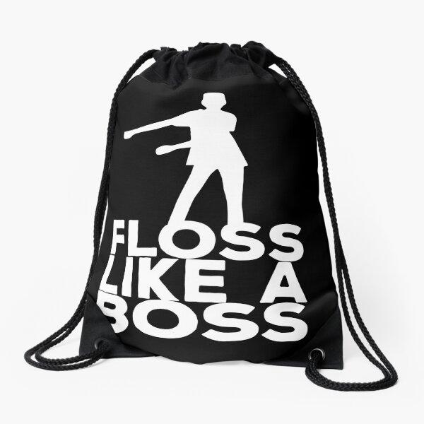 Floss Like A Boss Dance T-Shirt Drawstring Bag