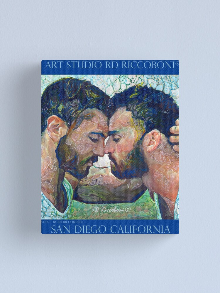 Alternate view of When by artist RD Riccoboni - Gay couple Canvas Print