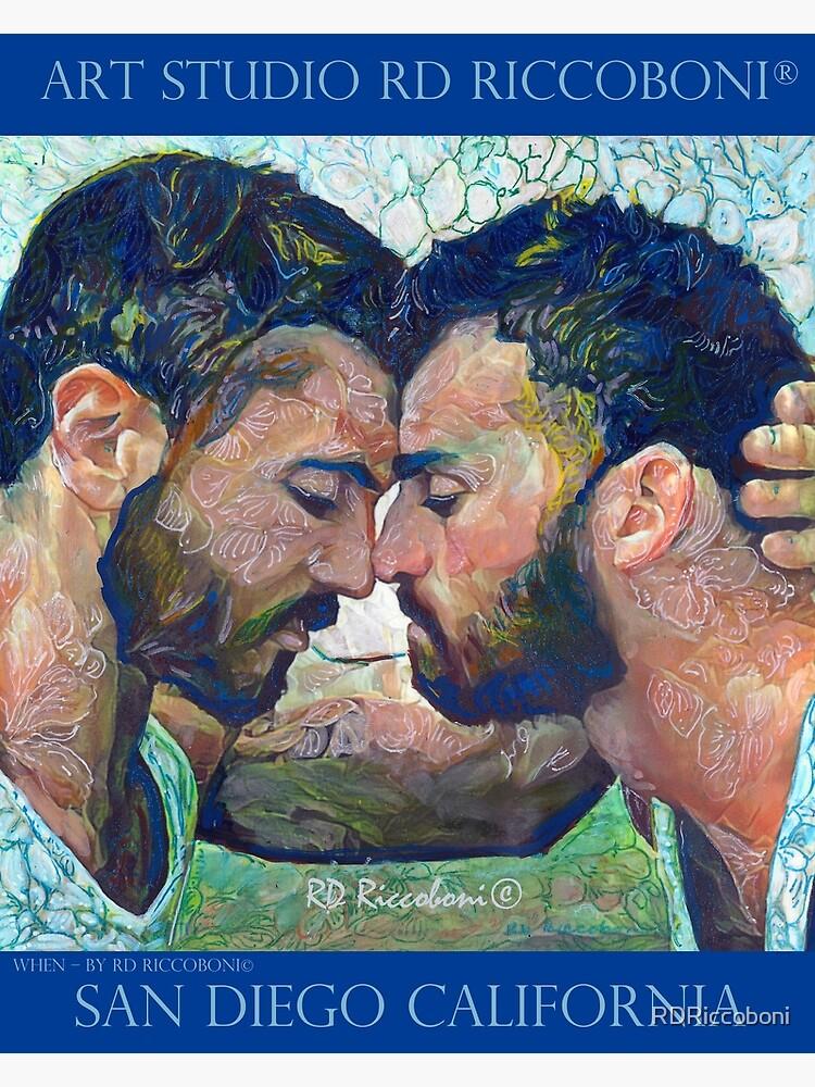 When by artist RD Riccoboni - Gay couple by RDRiccoboni