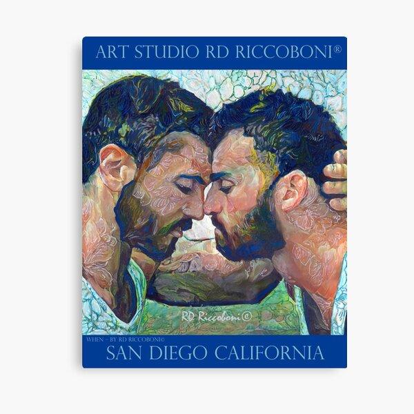 When by artist RD Riccoboni - Gay couple Canvas Print