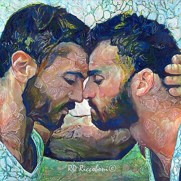When by artist RD Riccoboni - Gay couple by RDRiccoboni