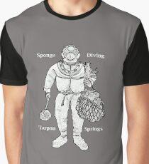 Vintage Tarpon Springs Sponge Diver with Diving Helmet Graphic T-Shirt