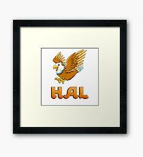 Hal Eagle Sticker Framed Print