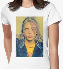 Billie Eilish Malerei Tailliertes T-Shirt für Frauen
