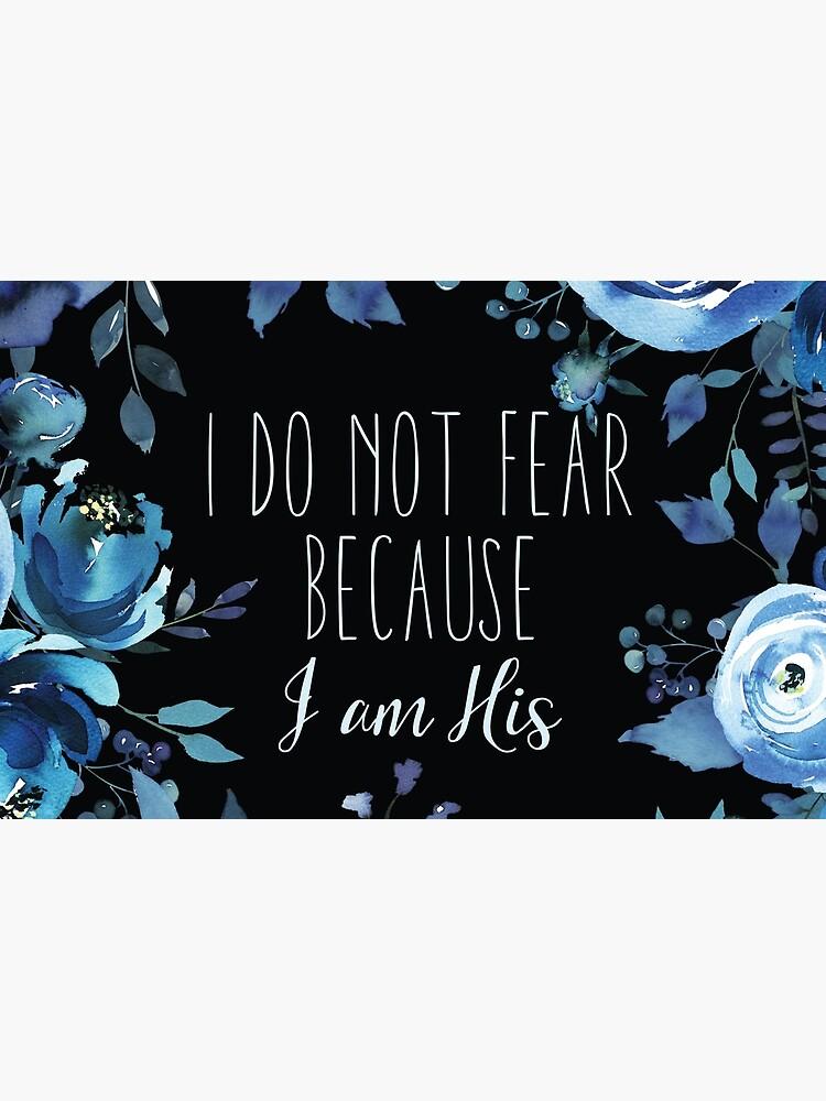 Christian Quote Indigo Floral de walk-by-faith