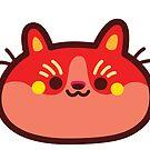 Rainbow CatBlobs: Red by Leonie Yue