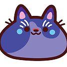 Rainbow CatBlobs: Indigo by Leonie Yue