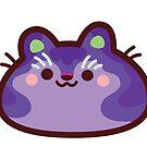 Rainbow CatBlobs: Violet by Leonie Yue