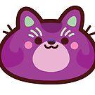 Rainbow CatBlobs: Purple by Leonie Yue