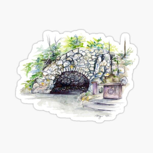 Notre Dame Grotto Sticker