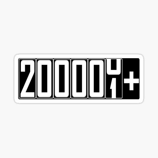 200000+ Miles Sticker