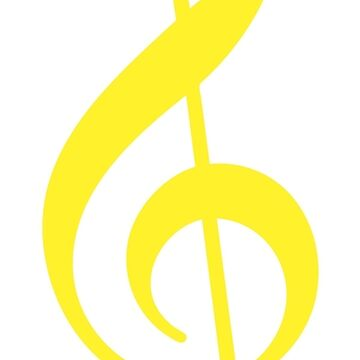 Treble Clef - Yellow by CoyGraphics