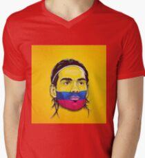 Falcao Colombia Mens V-Neck T-Shirt