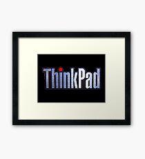 Thinkpad Logo Realistic Framed Print