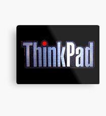 Thinkpad Logo Realistic Metal Print
