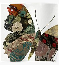 Butterfly Brocade V Poster