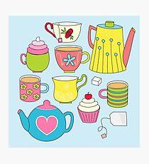 Teapots, cupcakes & more Photographic Print