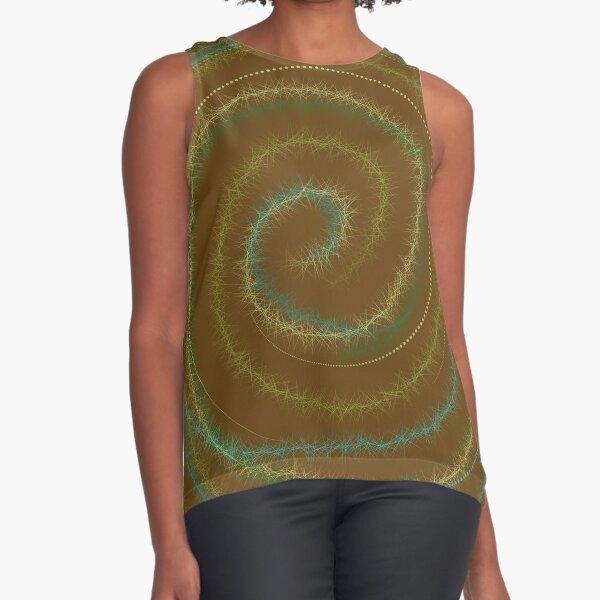 Wool in Vortex Sleeveless Top