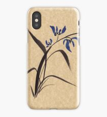 'Morning Orchids'  Sumi-e ink wash painting iPhone Case