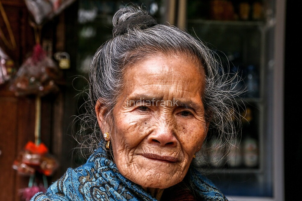 Face of wisdom, Laos by indiafrank