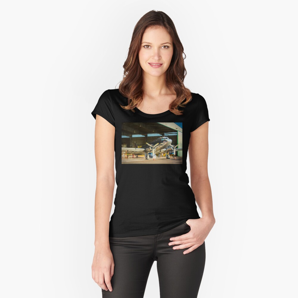 Douglas DC3 in the Hangar Fitted Scoop T-Shirt