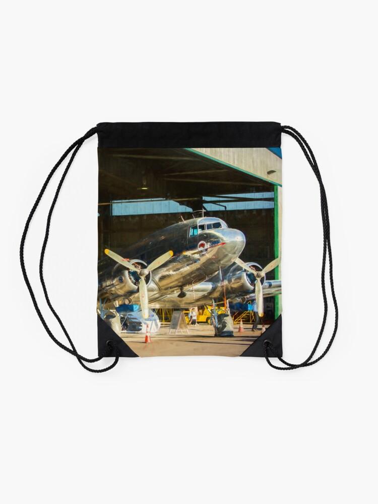 Alternate view of Douglas DC3 in the Hangar Drawstring Bag