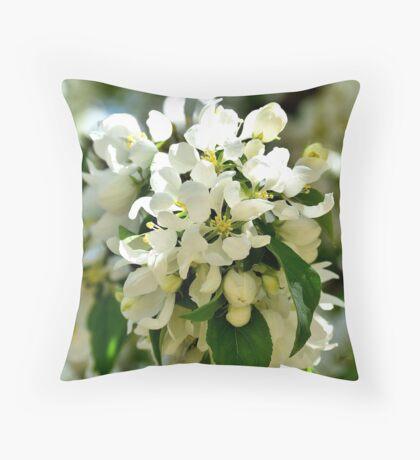 A Crabapple Blossom Throw Pillow